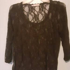 Maurice's size 1 see through lace blouse